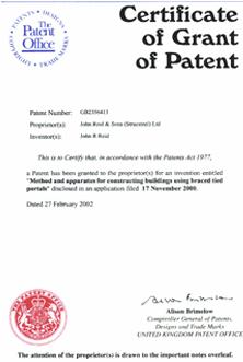 英国专利证书