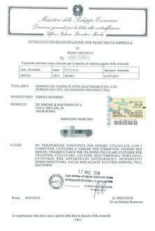 意大利商标注册证